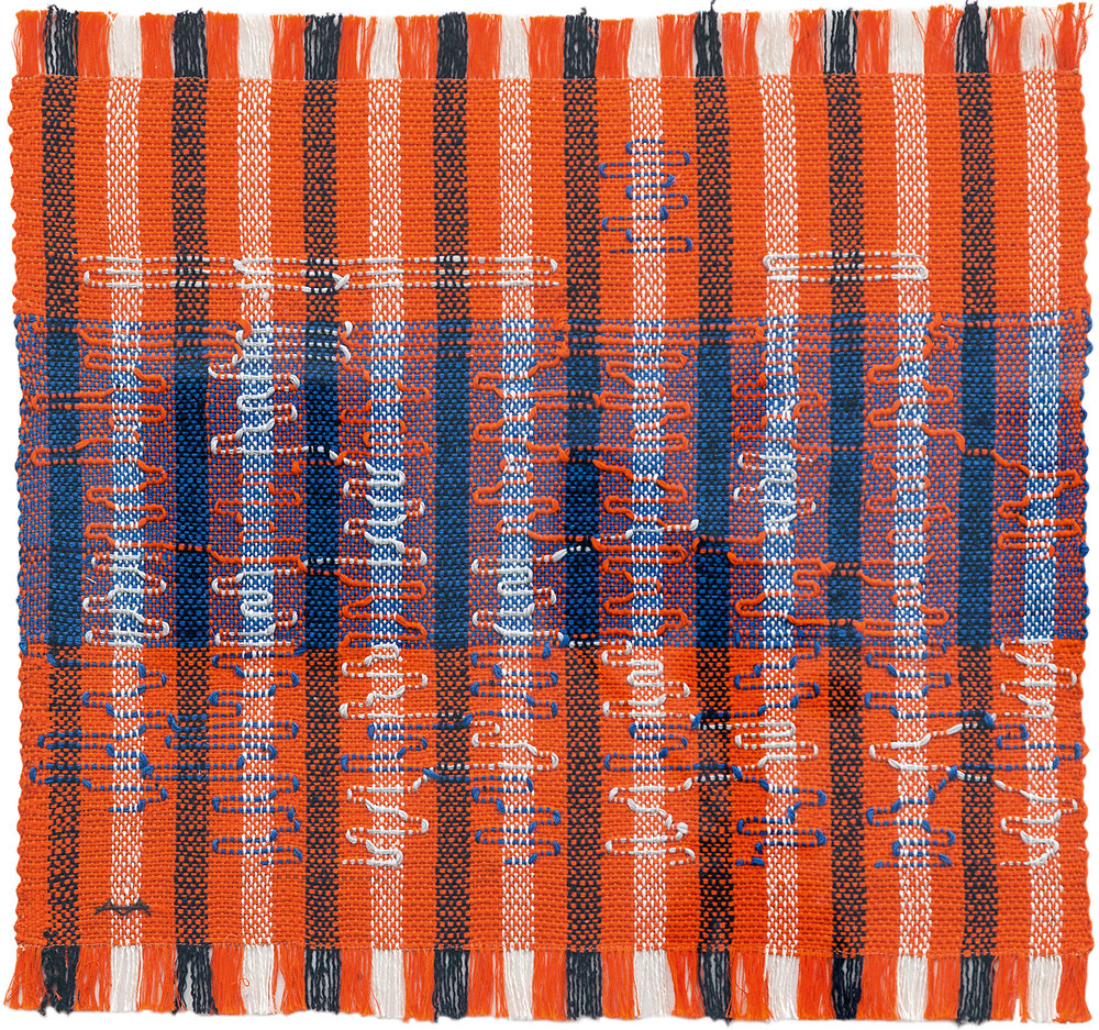 Anni Albers   Intersecting  1962, Pictorial weaving, cotton and rayon, 400 x 419 mm, Josef Albers Museum Quadrat Bottrop © 2018 The Josef and Anni Albers Foundation/Artists Rights Society (ARS), New York/DACS, London