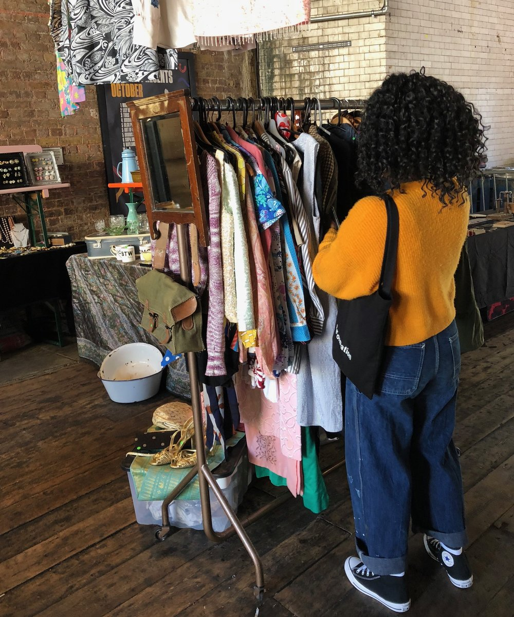 The Saturday flea market at Flat Iron Square