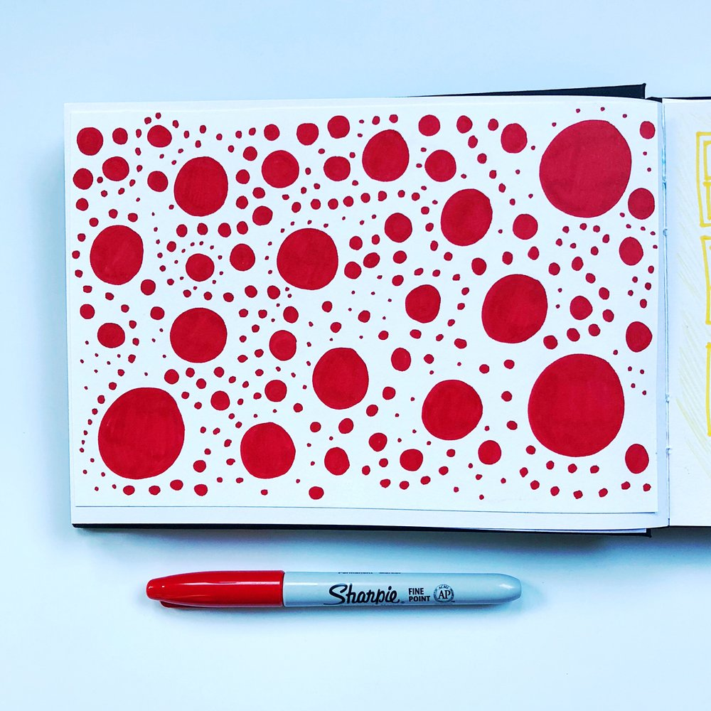 Week 2, day 4 - something inspired by Kusama