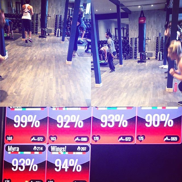Finished up a Full House Friday.  Pictures from 6:30/7am team, who smashed HIIT sessions this morning. Solid red on the @myzonemoves. Double header from GailM 💪💪 . . #hiitworkout #lift #sprint #jump #smashed #🏋️‍♂️🏃🏽‍♀️🏃🏻‍♂️ . #milngavie #bearsden #glasgowwestend