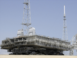crawler transporter moving mobile launcher