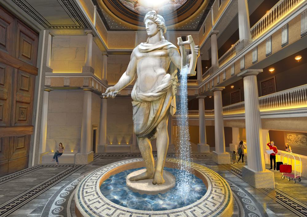 THEME PARK HOTEL LOBBY <strong>| An enchanting mythological hotel lobby.</strong>