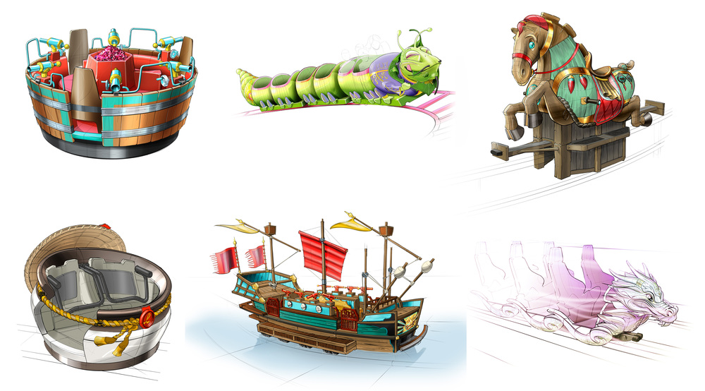 RIDE VEHICLES WANDA HEFEI <strong>| Customized vehicles are part of the theming design</strong>