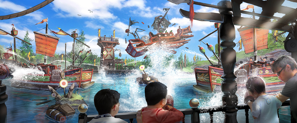 SPLASH BATTLE WANDA HEFEI <strong>| Experience a historical water battle as a soldier in this exciting water ride.</strong>