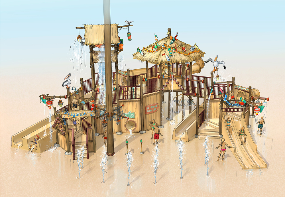 BEACH PLAYGROUND <strong>| Design for a water playground in close cooperation with the supplier</strong>