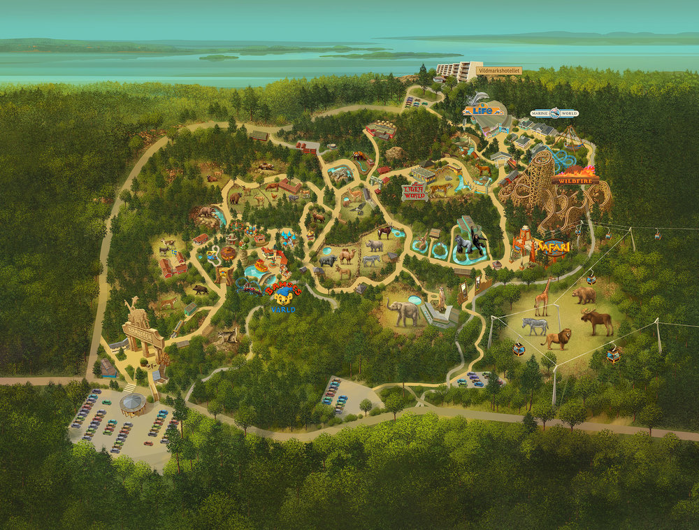 KOLMÅRDEN ZOO MAP <strong>| Scandinavia's biggest wildlife park gets a newly designed park map</strong>