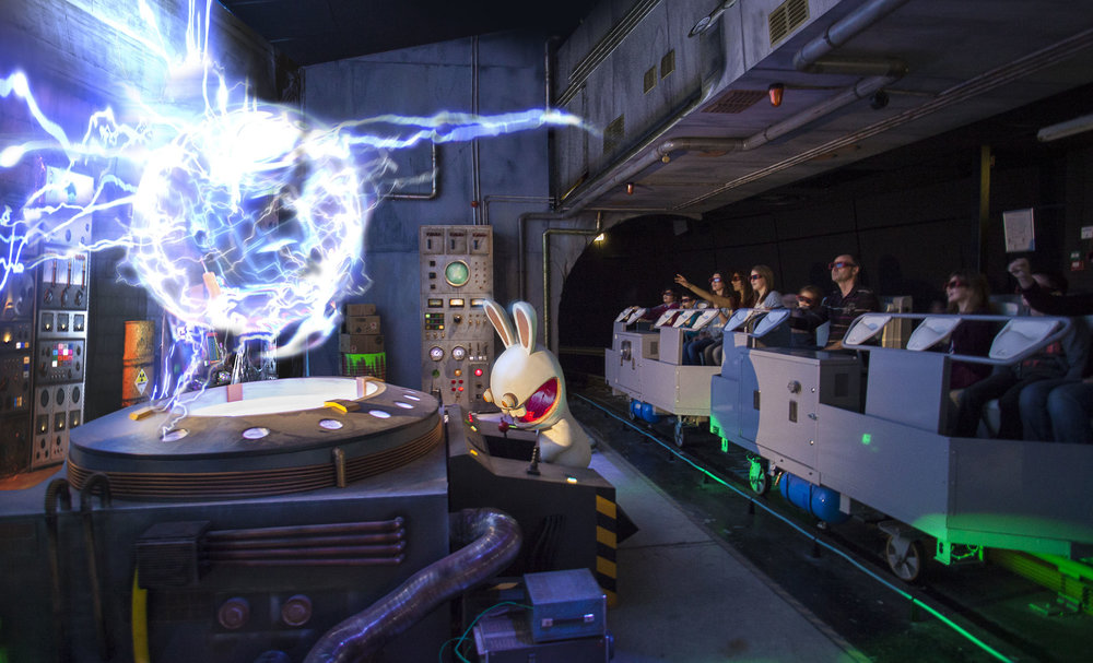 RAVING RABBIDS THE TIME MACHINE <strong>| Design and production for a Thea Award-winning dark ride in Futuroscope, France</strong>