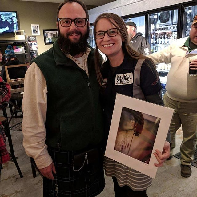 Thanks to @thebeerrun for holding my reception last night and thanks to @blackabbeybrew for holding a Guy Fawkes release party the same night!  Thanks to everyone who purchased a print, you guys are awesome!  These are the only 2 photographs I thought to get, unfortunately.