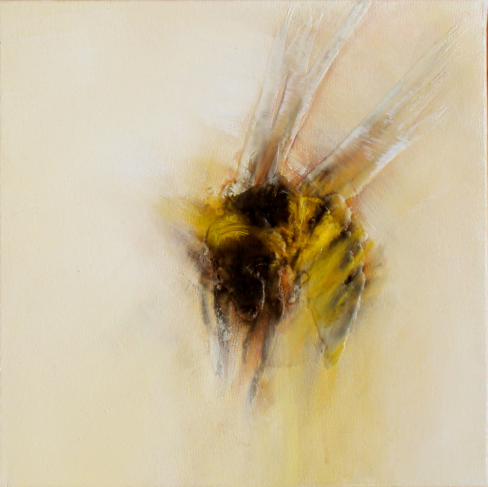 "ascend 1, oil, wax, charcoal on canvas, 12x12"", 2011, SOLD"