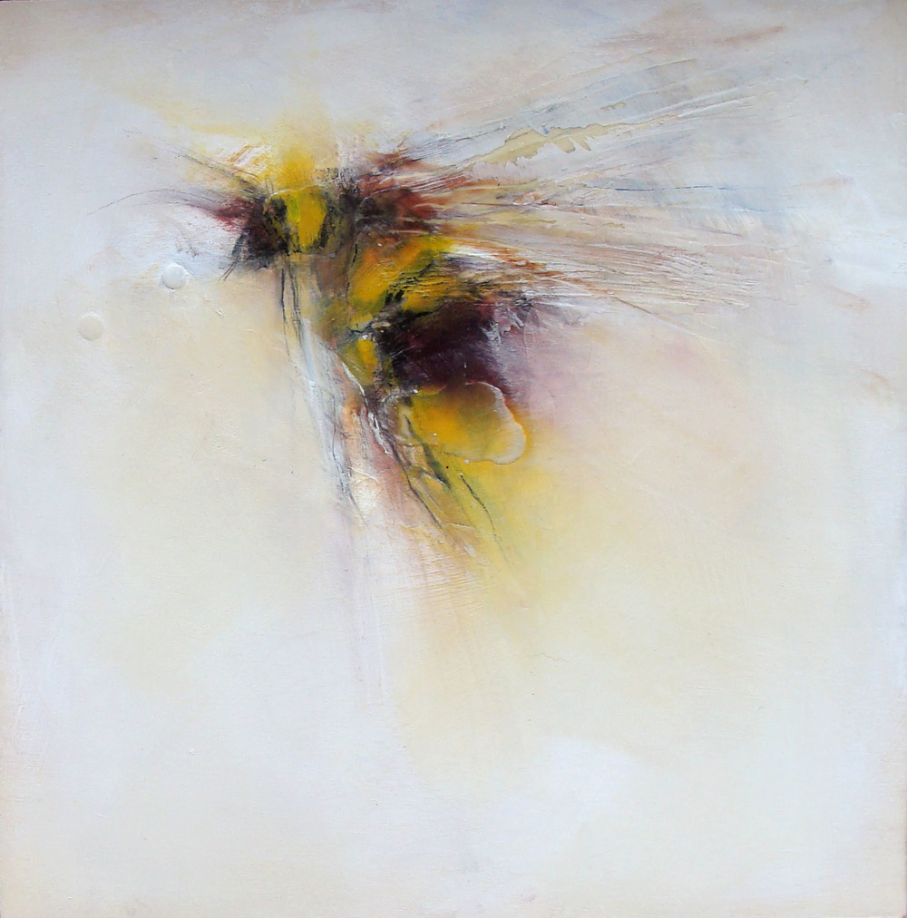 perfecting blur, oil, wax, charcoal on wood, 2012, SOLD