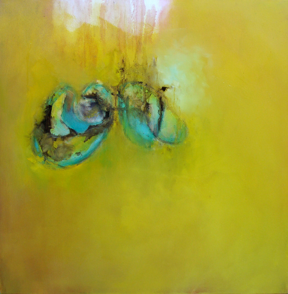 "birth rebirth, oil, wax on canvas, 36x36"", 2010, SOLD"