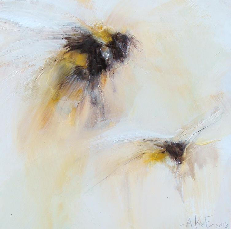 "momentum 5 - oil, wax, charcoal on wood, 12x12"", 2016"