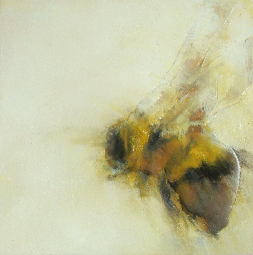"'vanilla' series - oil, wax, charcoal on wood, 12x12"", 2016, SOLD"