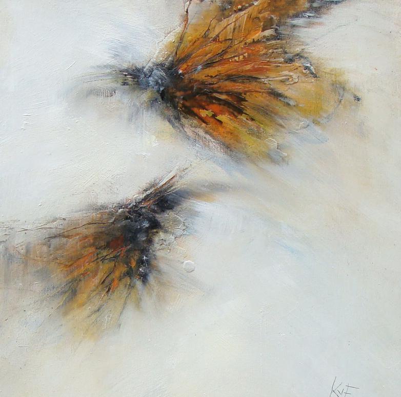 "monarch magic 6 - oil, wax on panel, 12x12"", 2017,  SOLD"