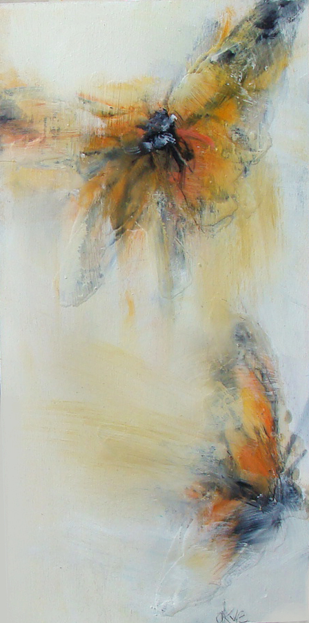 """before july 5 - oil, wax, charcoal on panel, 12x6"""", 2018, SOLD"""