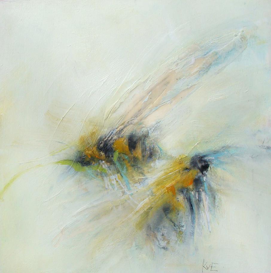 "fuzzy backs - oil, wax, charcoal on panel, 12x12"", 2018"