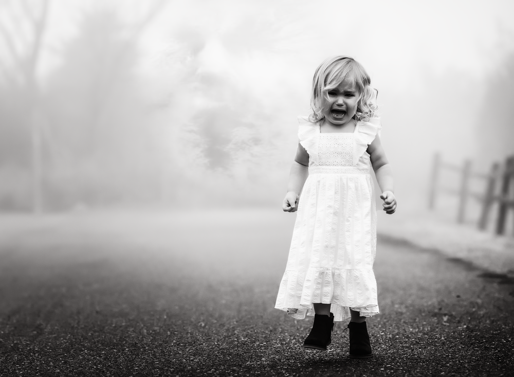 01 foggy day toddler horror black and white color boo boo ouchie bandaid fog natural light edmond ok photographer oklahoma city kate luber photography (1).png