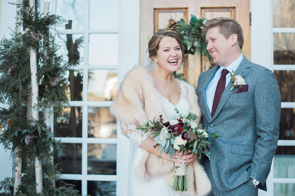 Click over to see more from this winter Bedford Village Inn wedding.