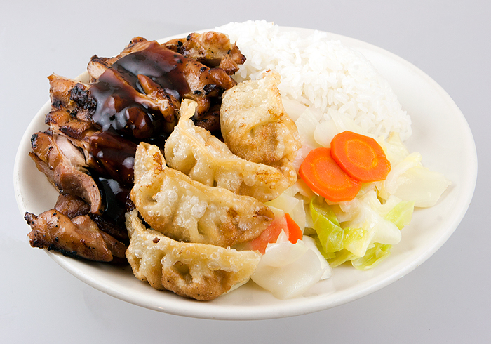 Chicken with Gyoza