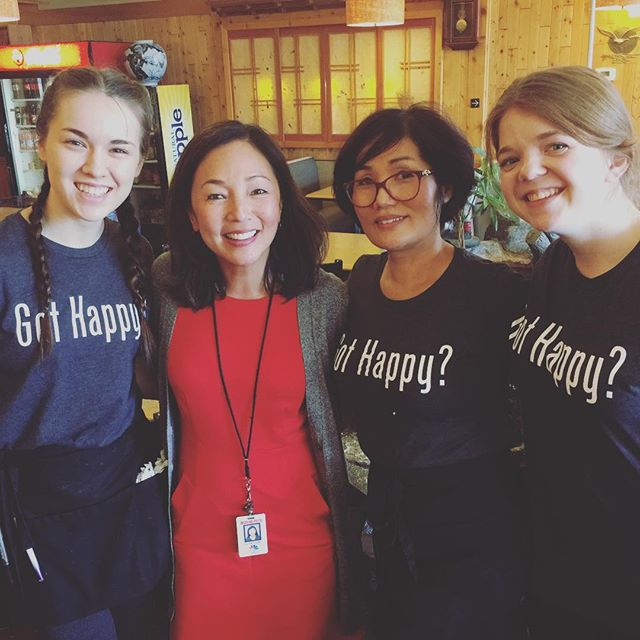 We're raving fans (can you tell?) of the entire @king5seattle team and Elisa Hahn! @hahn.elisa . . . . . . . . #king5 #king5seattle #king5news #happyteriyaki #happyteriyaki11 #gothappy