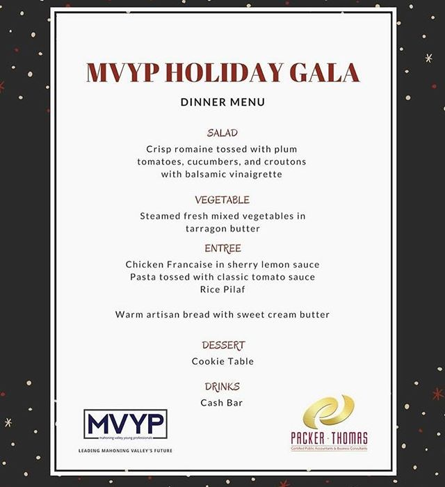Only a day a way! Still time to purchase your tickets to the Holiday Gala! Link in bio! #mvyp #mvypholidaygala #deyor #youngstown #mahoningvalley #dinner #dancing