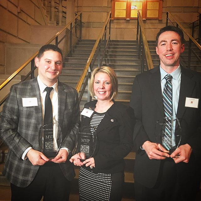 Congratulations to the MVP's of the 2018 25 Under 35 Awards! Dr. Patrick Brine, Dr. Courtney Stryffeler, and Ian Beniston @stryffelercrt @mercy_health @youngstownndc  #healthcare #business #REVITALIZE #networking #professionals
