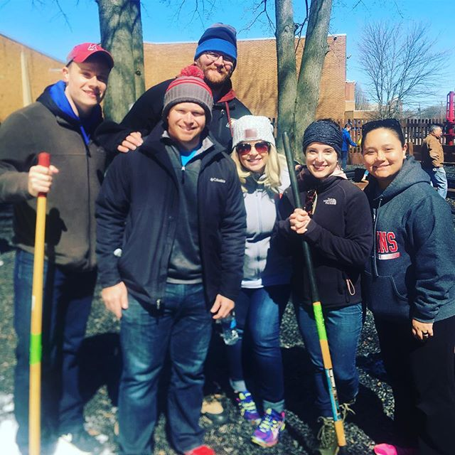 We had a great crew volunteer at the Jewish Community Center's Clean Up Day and Ground breaking for new playground. #volunteer #community #communityservice #fundraising #networking #business #communitygarden