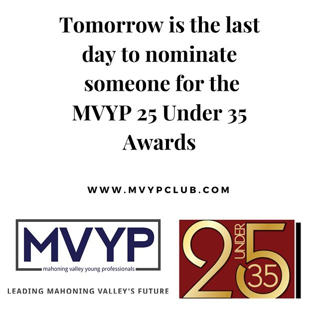 Nominate a Young Professional for the 25 Under 35 Awards #business #law #education #nonprofit #medicine #networking #awards #mahoningvalley #youngstown #ohio link is in the bio