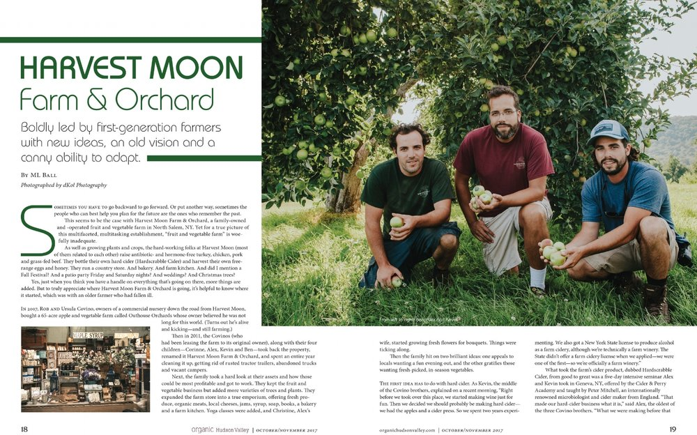 Organic Hudson Valley tear sheet