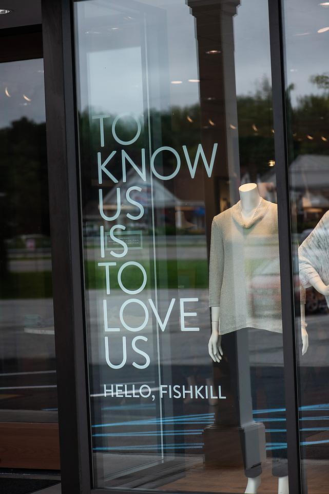J.Jill window signage