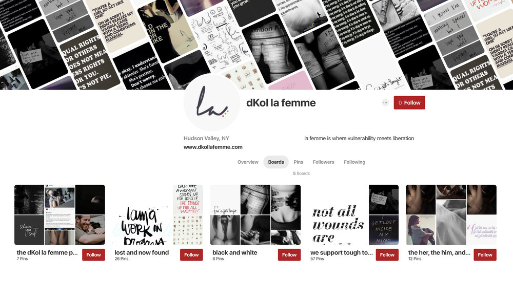 See the vision and inspiration over the dKol la femme Pinterest boards.