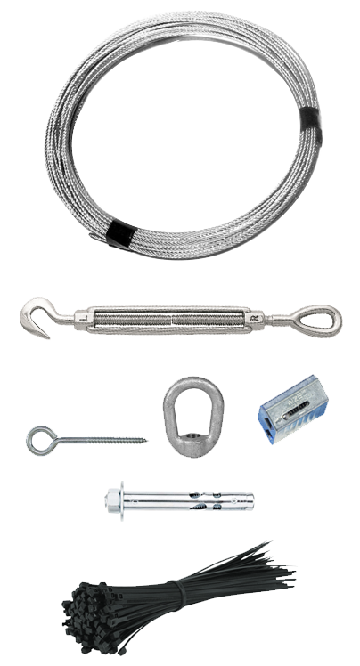 SUSPENDED CABLE KIT -  FOR SUSPENDED CABLE INSTALLATIONS   PP-KIT-E26S-C