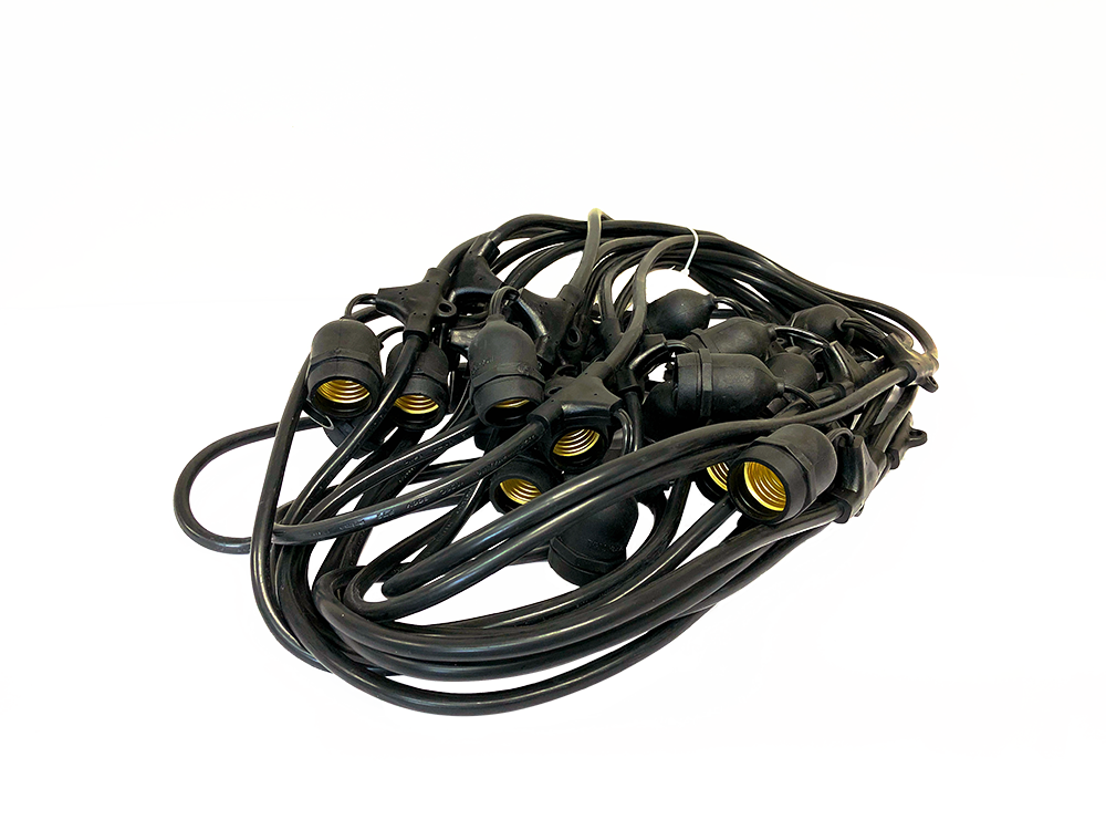 120V COMMERCIAL-GRADE PATIO LIGHTING WIRE    PP-E26S-24L    PP-E26S-48L