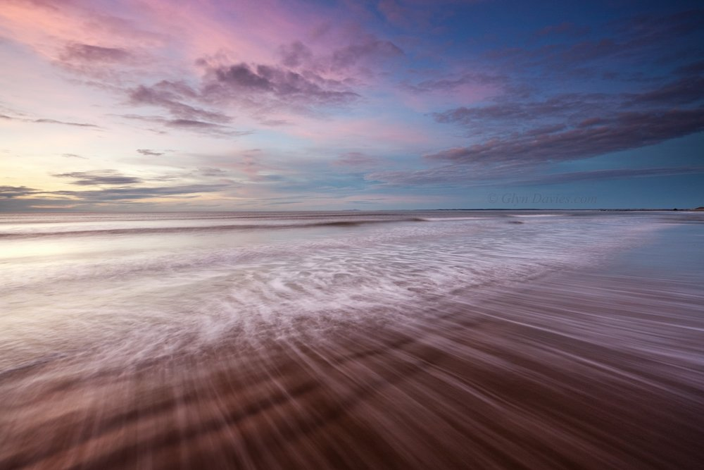 """Rippled Pink"" - five minutes when the world went pink, Llŷn Peninsula, Wales - Canon 1DSmk3"