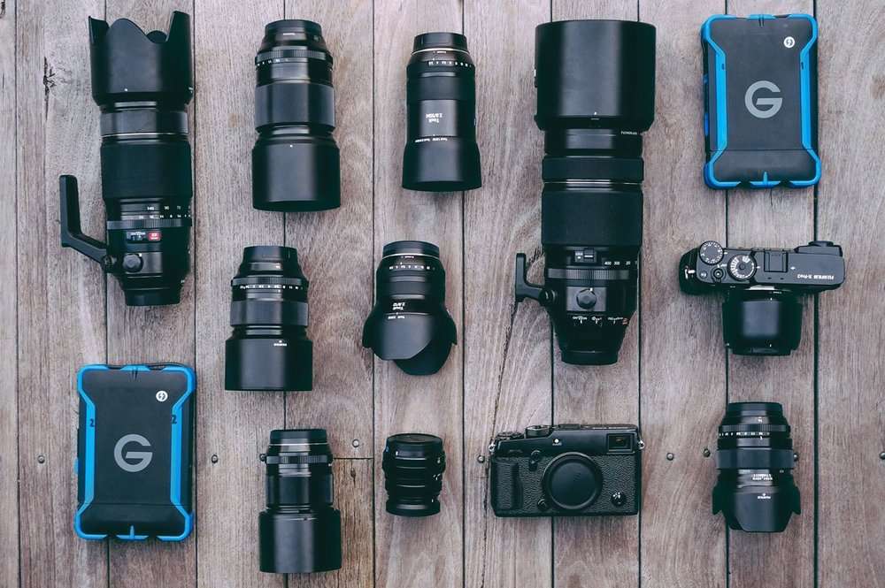 Travelling light with top quality gear from Fujifilm,  G-Technology  and a few  Carl Zeiss  Lenses.