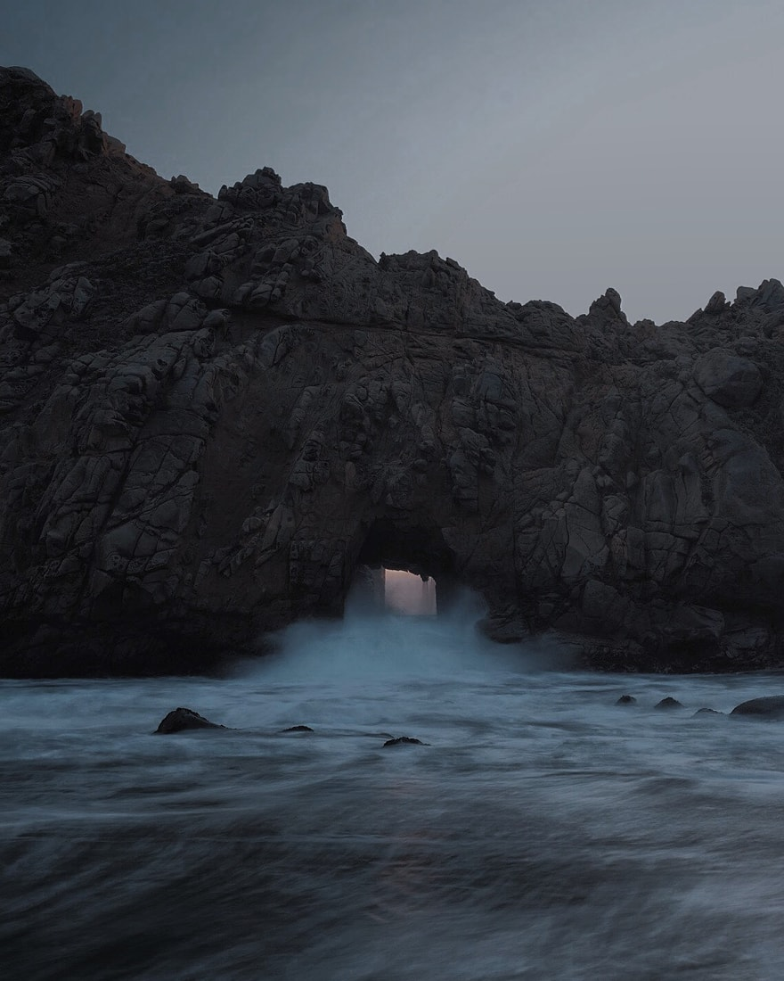 Keyhole Arch in Pfeiffer Beach, Big Sur, CA -  Fujifilm XT-1  &  XF-23mm F1.4