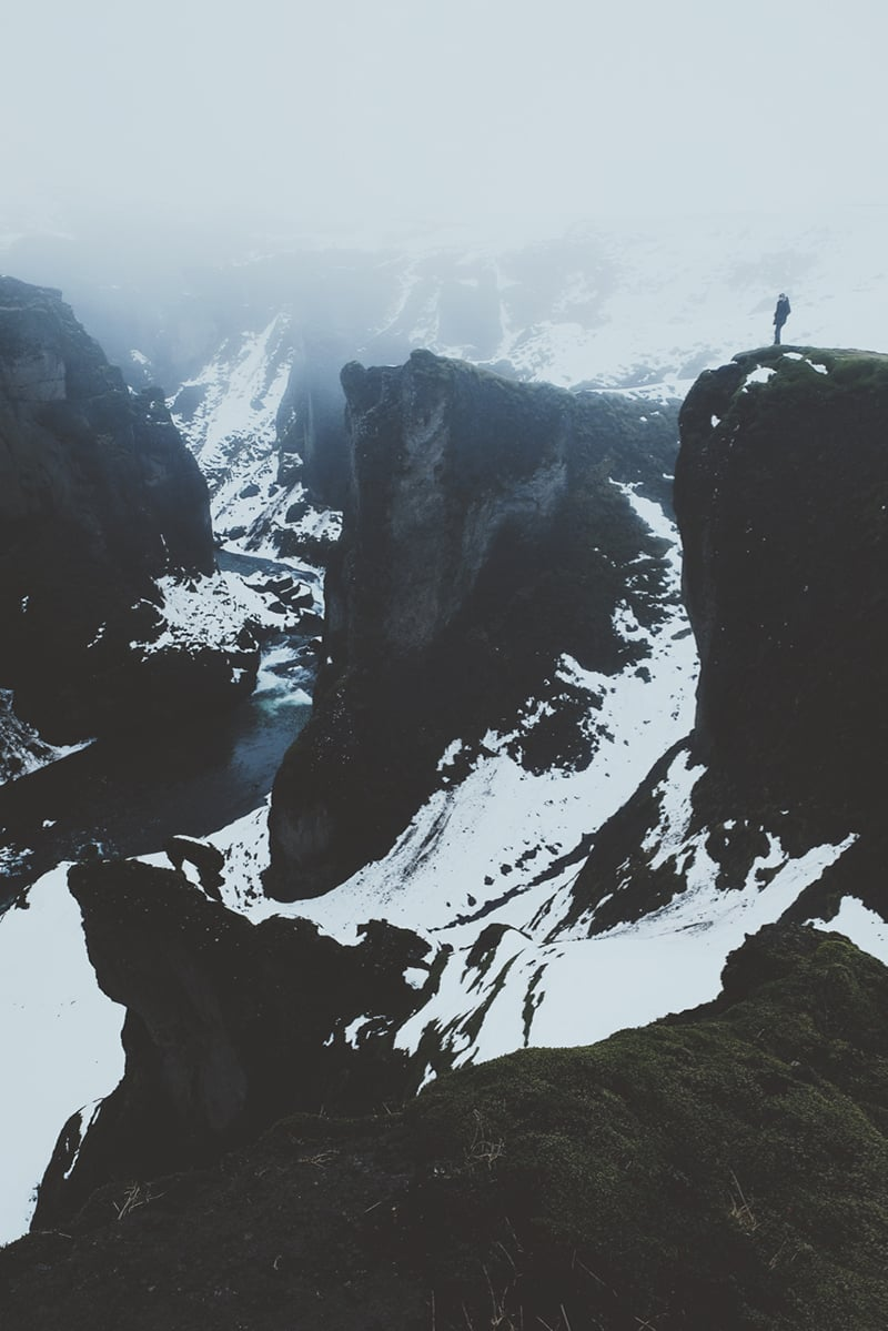 Return to Fjaðrárgljúfur  Seeing Fjaðrárgljúfur in the snow and mist was a special moment. Game of Thrones for days.