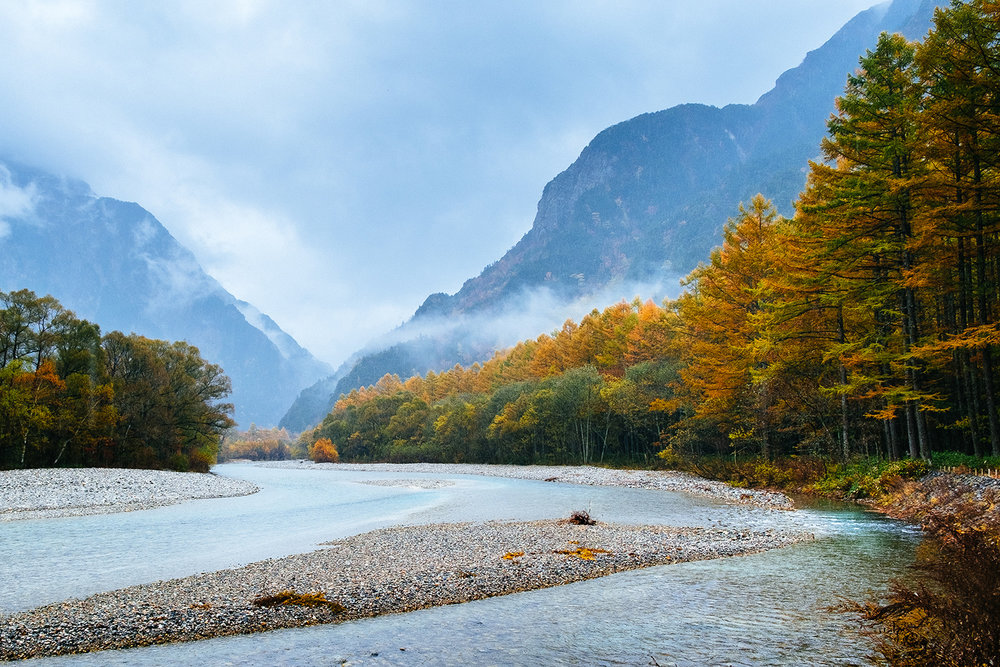 Hiking in Kamikochi, Japan