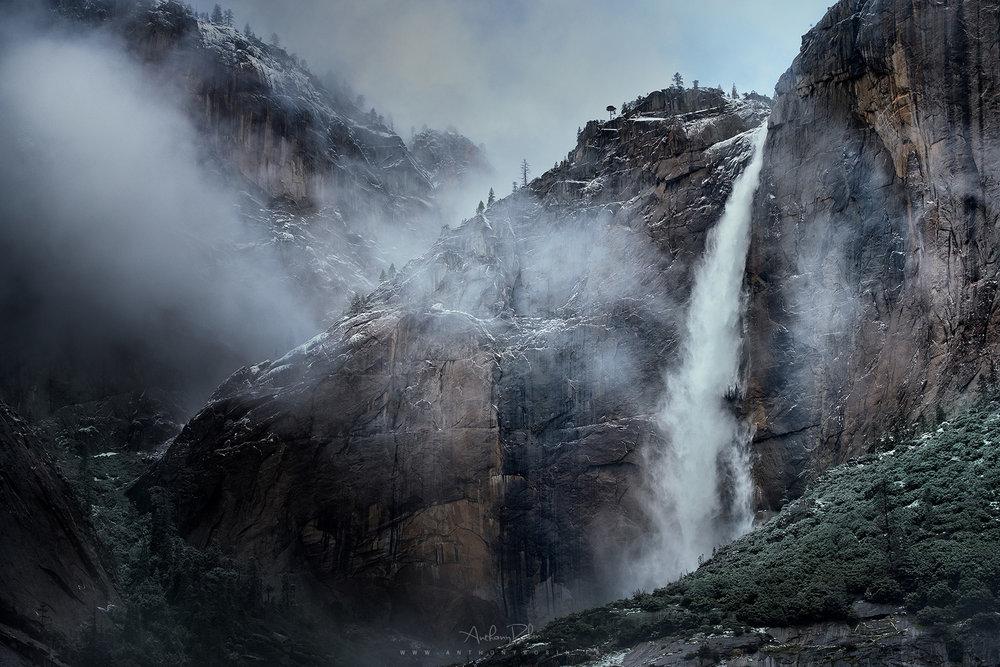 Impressive Yosemite falls, California.