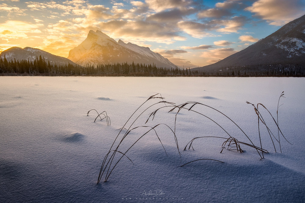 Early glow, Banff.
