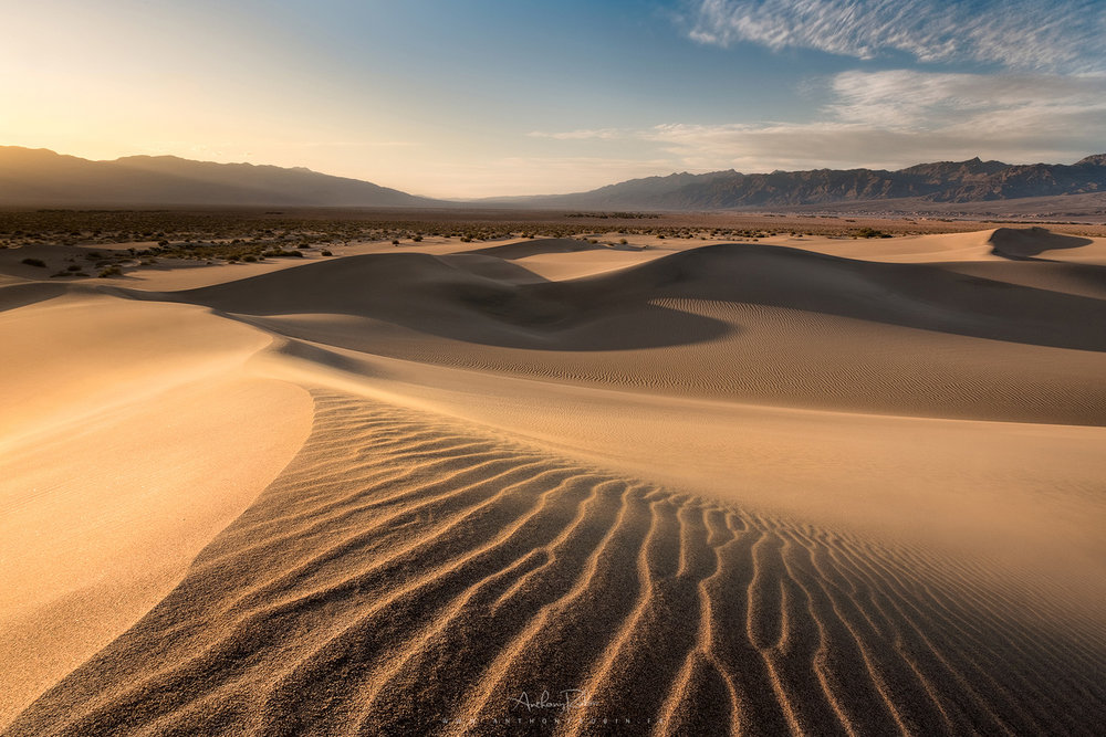 Playing in the sand, Death Valley.