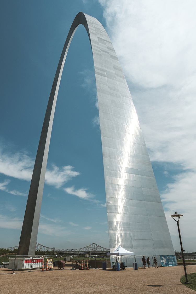 The Gateway Arch, in St Louis, MO.