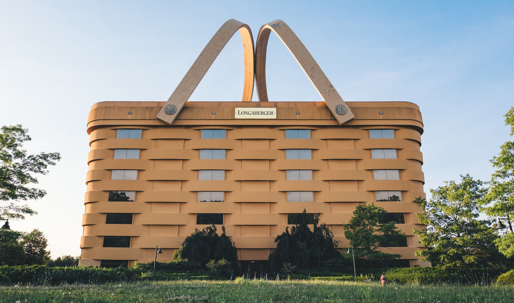 The former Longaberger HQ in Newark, OH.