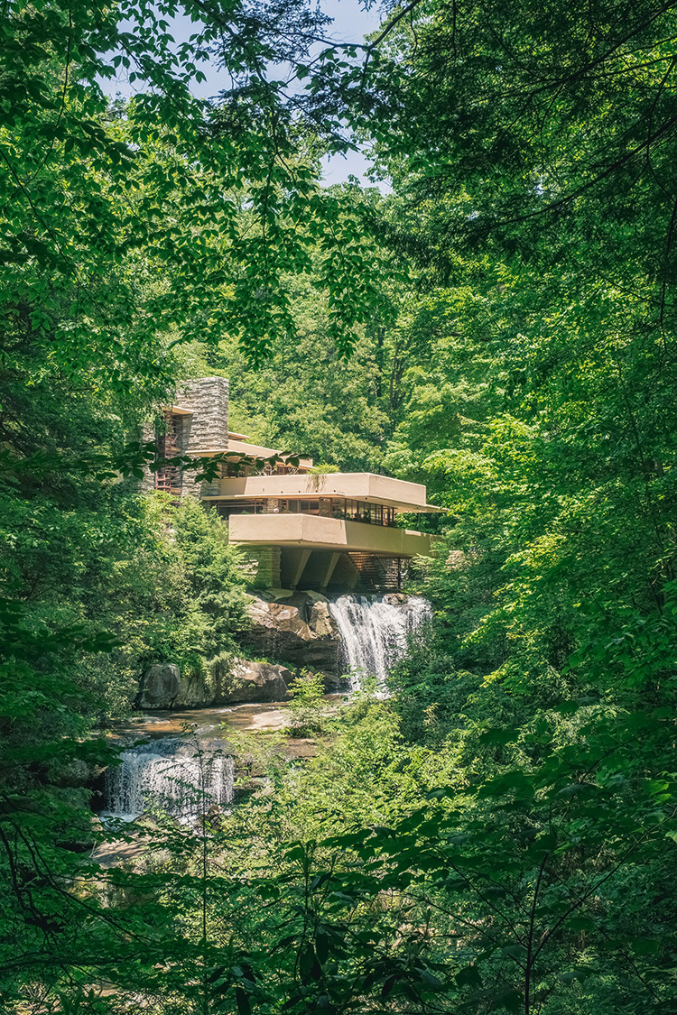 Fallingwater, Frank Lloyd Wright's masterpiece in Mill Run, PA