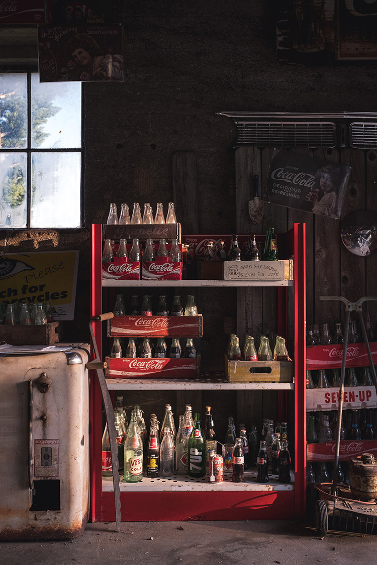 Vintage Soda bottles in Ash Grove, MO.