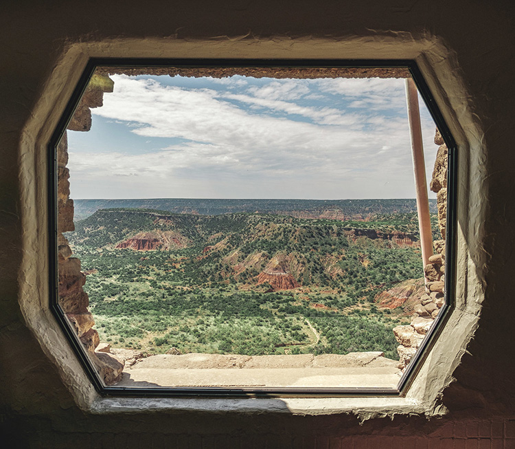 The Palo Duro Canyon State Park in Texas.