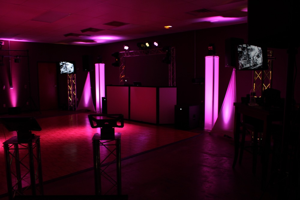 DJ and Lighting Set up
