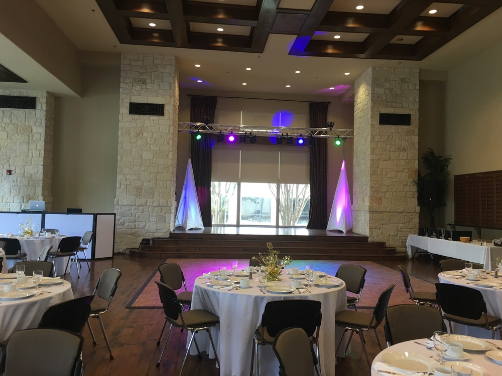 50th Wedding Anniversary DJ Lighting