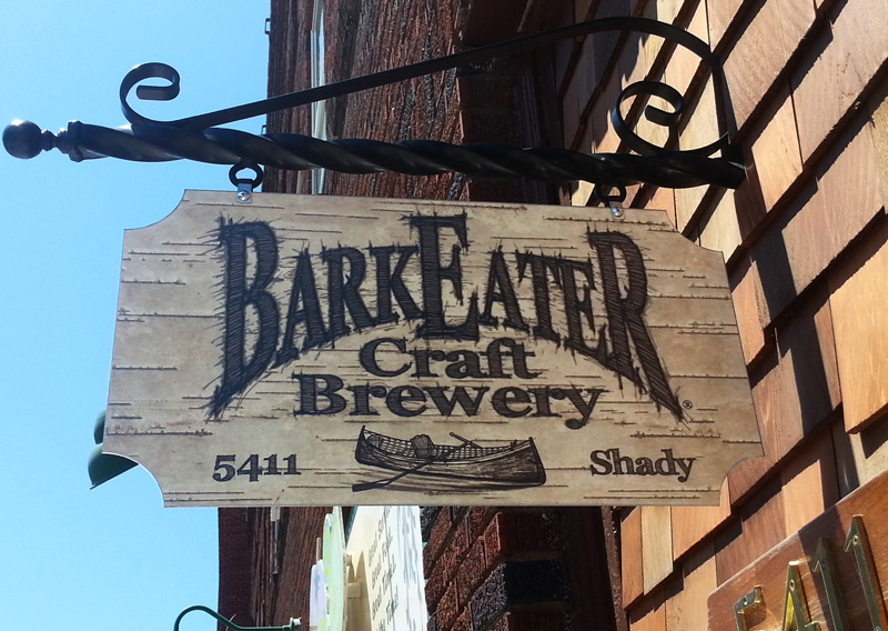 Another gorgeous wooden sign at BarkEater Craft Brewery in Lowville, NY