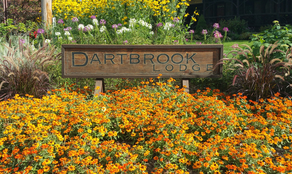 Dartbrook Lodge, with their picture-perfect plantings.